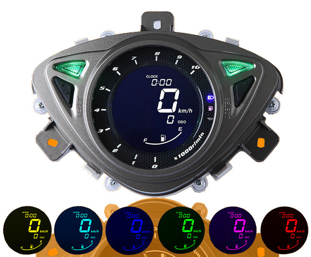 liquid crystal display Motorcycle speedometer speed meter odometer instrument 100RSZ motor scooter