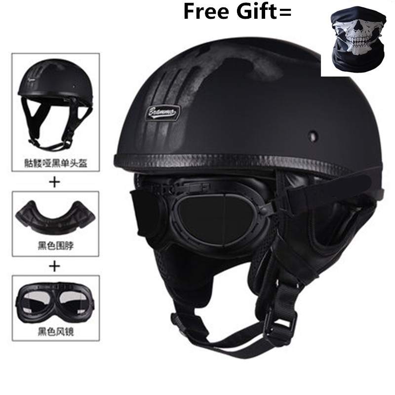 HOT SELL Novelty Style motorcycle helmet DOT half face helmet Black mat black available motorbike helmet(China)