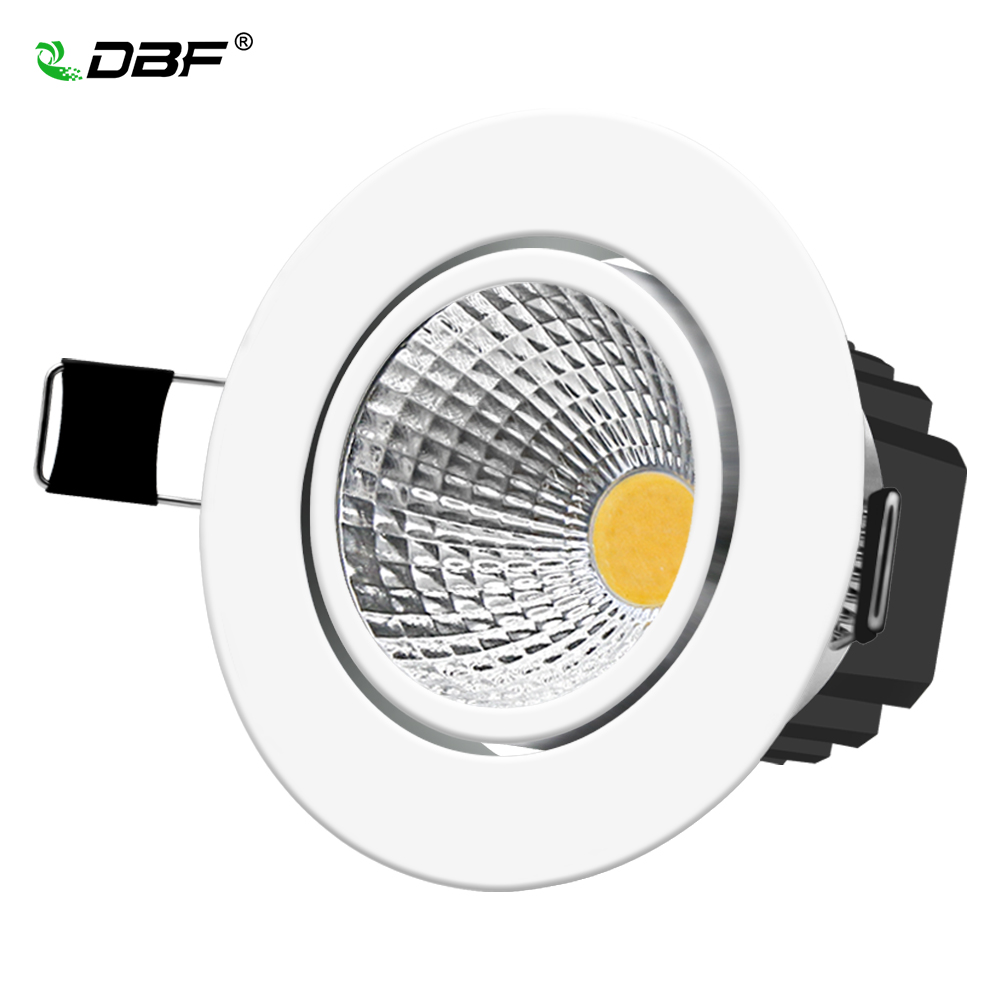 [DBF]Super Bright Recessed LED Dimmable Downlight COB 5W 7W 10W 12W 3000K LED Ceiling Spot Light LED Ceiling Lamp AC 110V 220V
