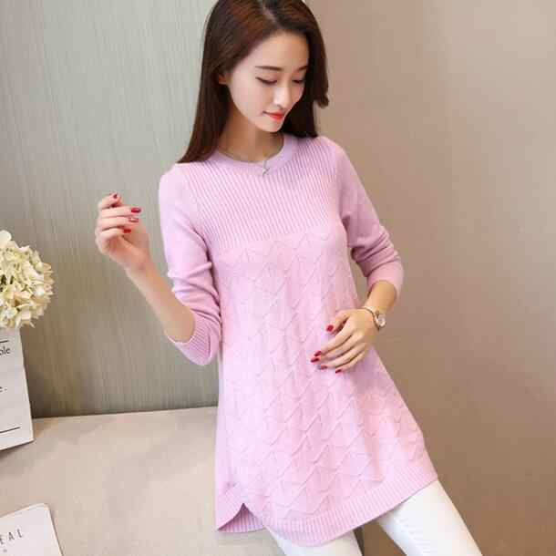 Maternity Clothes Pregnancy Winter Sweaters Cotton Maternity Clothing For Pregnant Women Long Sleeve Solid Sweaters DF835