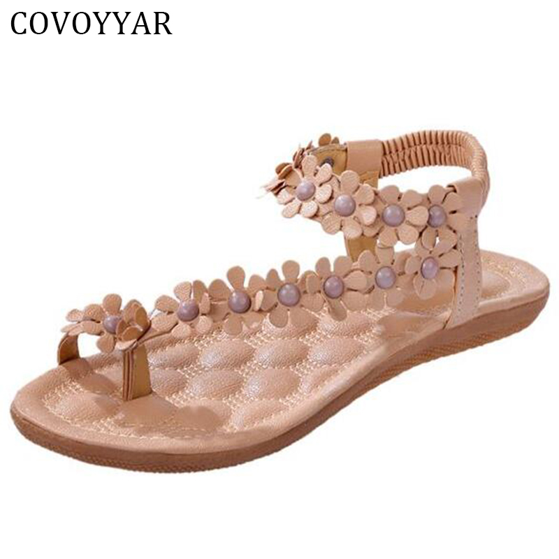 Summer Goddess Sandals Flower Beading Women Thong Sandals Beach Flip Flops Soft Insole Comfort Women Shoes WSS16 sandals women flower beading summer flip