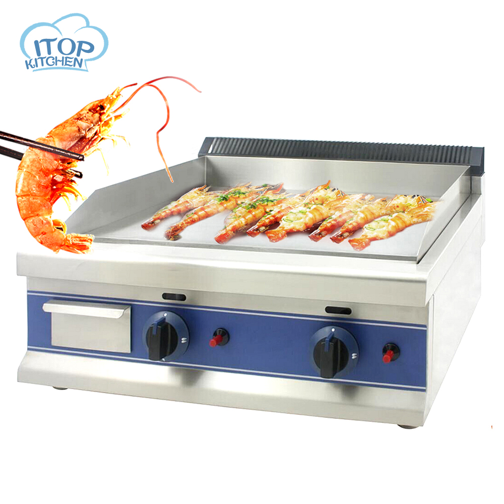 ITOP DGT-600 Commercial Counter Top Stainless Steel LPG Gas Griddle Gas Hot Plat,New