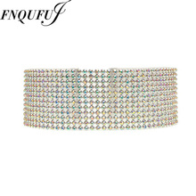 Elegant Rhinestone choker necklaces for women  Bridal Chokers 2016 Wedding Crystal choker Collar Jewelry  Chunky Necklace