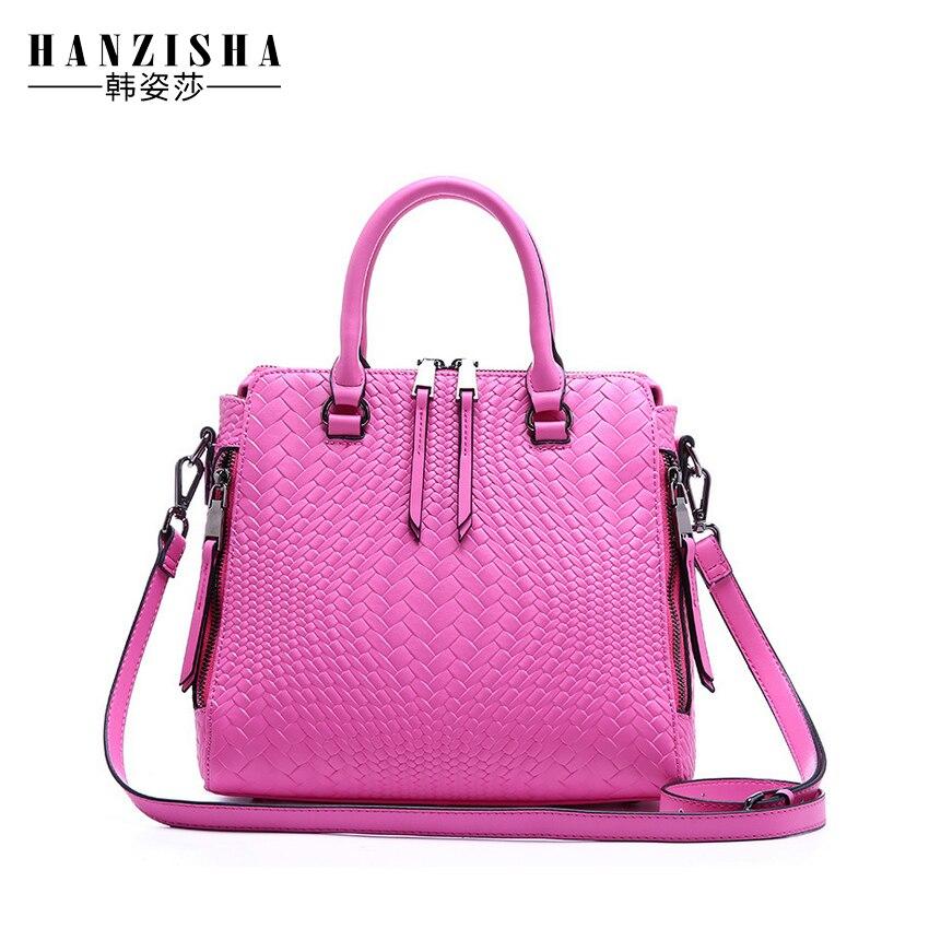 ФОТО 2017 Fashion Brand Genuine Leather Women Bag Embossing High Quality Women Shoulder Bag Female Leather Ladies messenger bag