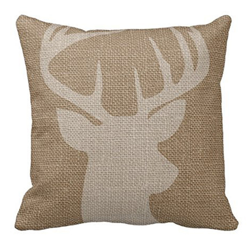 2017 vintage pillow case cover home decal reindeer pillow case box cover for decorative pillow cushion on sale