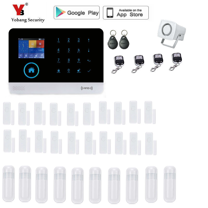 Yobang Security GSM font b Alarm b font System TFT Android IOS APP Touch keypad Android