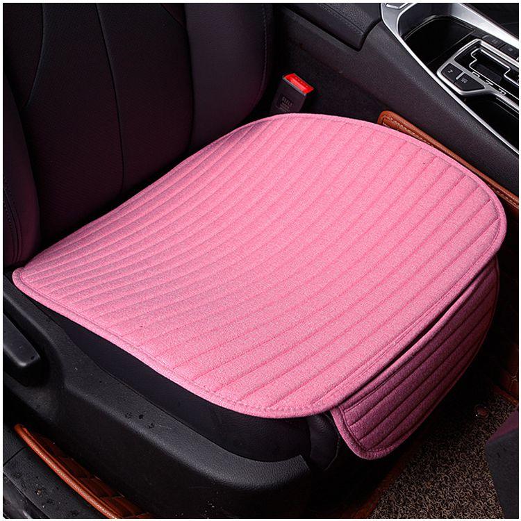 1 pcs crystal velvet striped car cushion no back to avoid tied four seasons pad 49 * 53CM pink