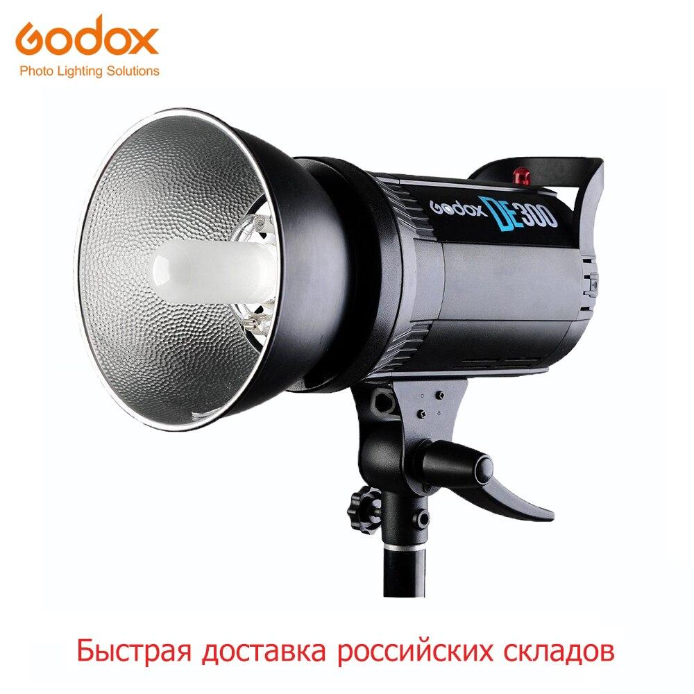 Livraison DHL Godox DE300 300W professionnel Studio Flash photographie éclairage lampe stroboscopique GN58 pour Portrait Art produit photo