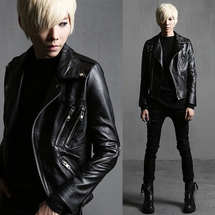 Men Leather Jacket 2017 Male Autumn Winter Outerwear Slim PU Leather Clothing Personalized Costume Motocycle Leather & Suede