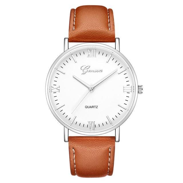 2018 Reloj Fashion Large Dial Military Quartz Men Watch Leather Sport Watches Classic Clock Wristwatch Relogio Masculino #D