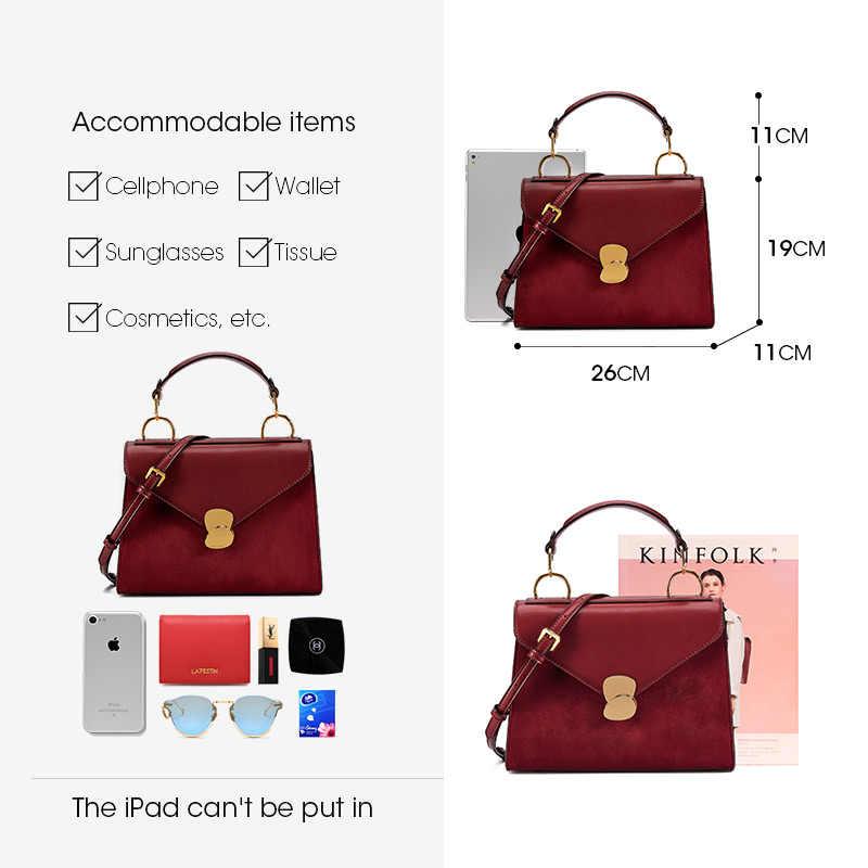 LA FESTIN 2018 новая сумка-тоут из спилок женская сумка в стиле ретро модная сумка-мессенджер инновационный дизайн с лепестками