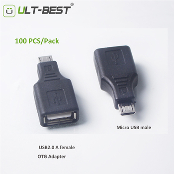 ULT-Best 100PCS/lot Wholesale Micro USB Male to USB2.0 Female OTG Adapter Converter Connector data Sync OTG  for Samsung Xiaomi