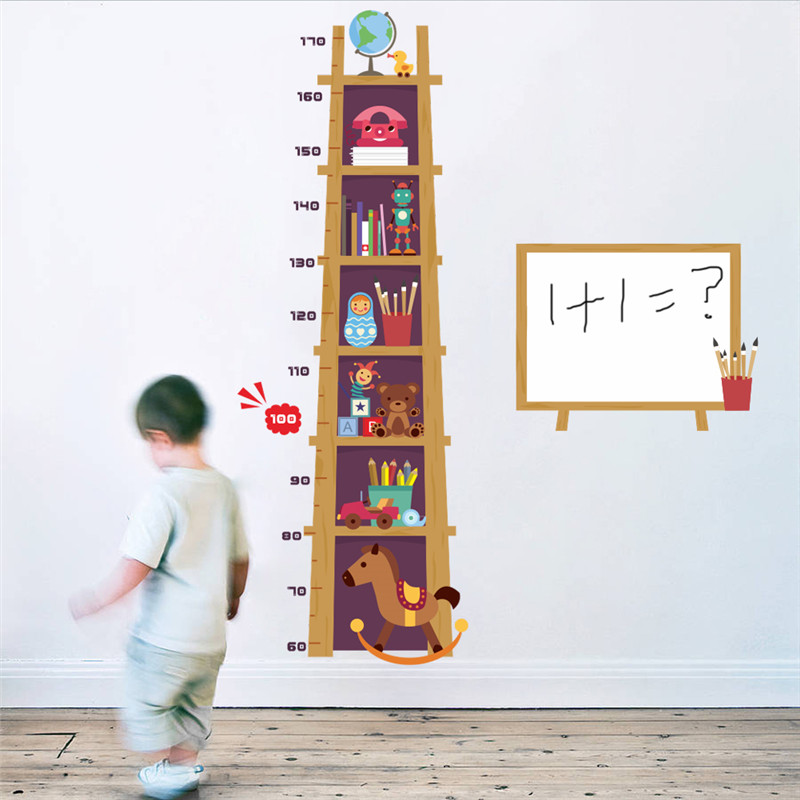 Hot Sale Children Height Measure Wall Sticker For Kids Rooms 3d