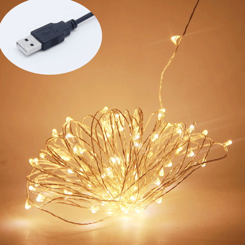 USB tápellátással ellátott led lámpatestek 10M 33ft 100led 5V - Üdülési világítás