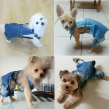 Dog Denim Jumpsuit