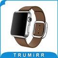 Натуральная Кожа Ремешок Для Часов 1:1 как Оригинал для iWatch Apple Watch 38 мм 42 мм Запястье Современные Пряжка Ремень Магнитный Пояс Браслет