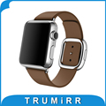 Genuine Leather Watchband 1:1 as Orginal for iWatch Apple Watch 38mm 42mm Wrist Band Modern Buckle Strap Magnetic Belt Bracelet