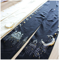 Beautiful Castle Of Starry Night Patterned Tights Women S 80D Pantyhose