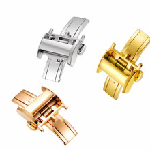 Hot Sale 12 14 1618mm 316L Stainless Steel Double By Open Watch Buckle Clasp Strap Deployant For Watchbands