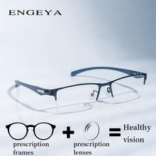 19c6bb19f سبائك إطار الرجال واضح نصف نظارات أزياء شفافة البصرية وصفة طبية نظارات  للكمبيوتر الأزياء الأعمال # IP66072