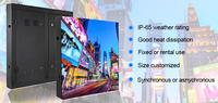 teeho outdoor advertising led display screen price waterproof LED panel P4 P5 P6 P8 P10 P16 screen Iron led wall Video