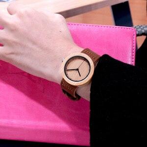 Image 4 - BOBO BIRD Round Bamboo Wooden Women Watch Fashion Ladies Quartz Wristwatch Wood Women Clock in Gift Box Custom Logo Dropshipping