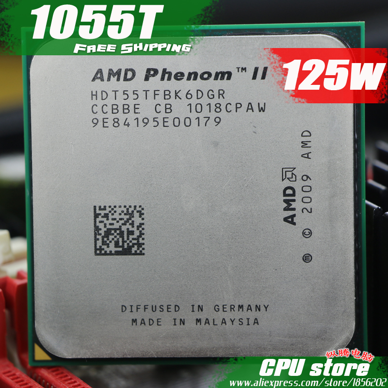 AMD Phenom II X6 1055T CPU Processor Six Core 2 8Ghz 6M 125W Socket AM3 AM2