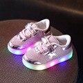2017 Led Световой Shoes for Boys Girls Мода Свет Случайные Дети 3 Цвета Открытый Новые Светящиеся Дети Тапки