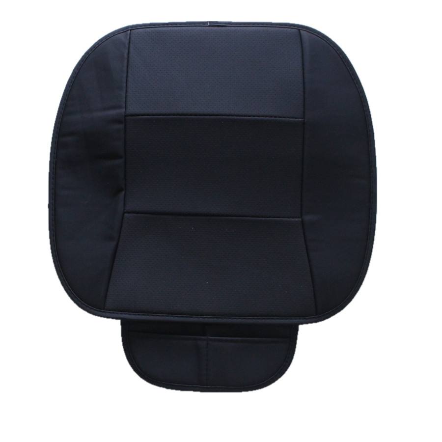 1 шт. искусственная кожа черный Передний автомобильный чехол для сиденья Защитная Подушка черные автомобильные аксессуары для интерьера-in Чехлы на автомобильные сиденья from Автомобили и мотоциклы