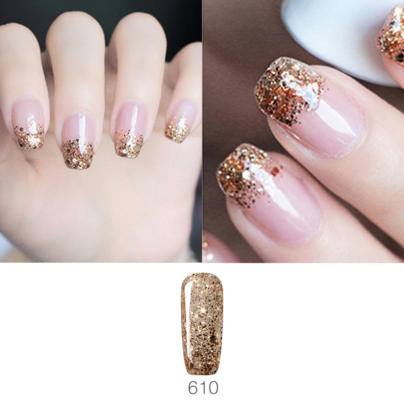Vrenmol Glitter Gel Varnish Diamond Hybrid Gel Nail Polish Nail Art ...