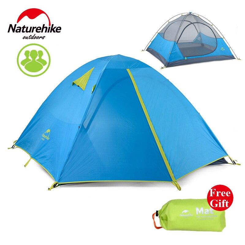 Naturehike Kit 3 Personne Tente de Camping En Plein Air Tente 190 T Tissu Étanche NH16S00-S