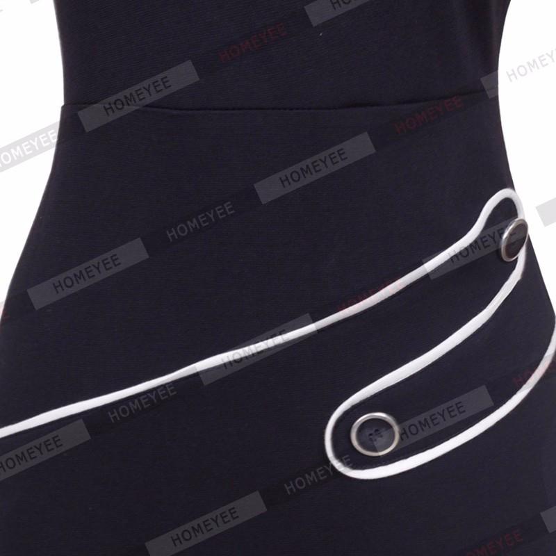 Black Dress Tunic Women Formal Work Office Sheath Patchwork Line Asymmetrical Neck Knee Length Plus Size Pencil Dress B63 B231 18