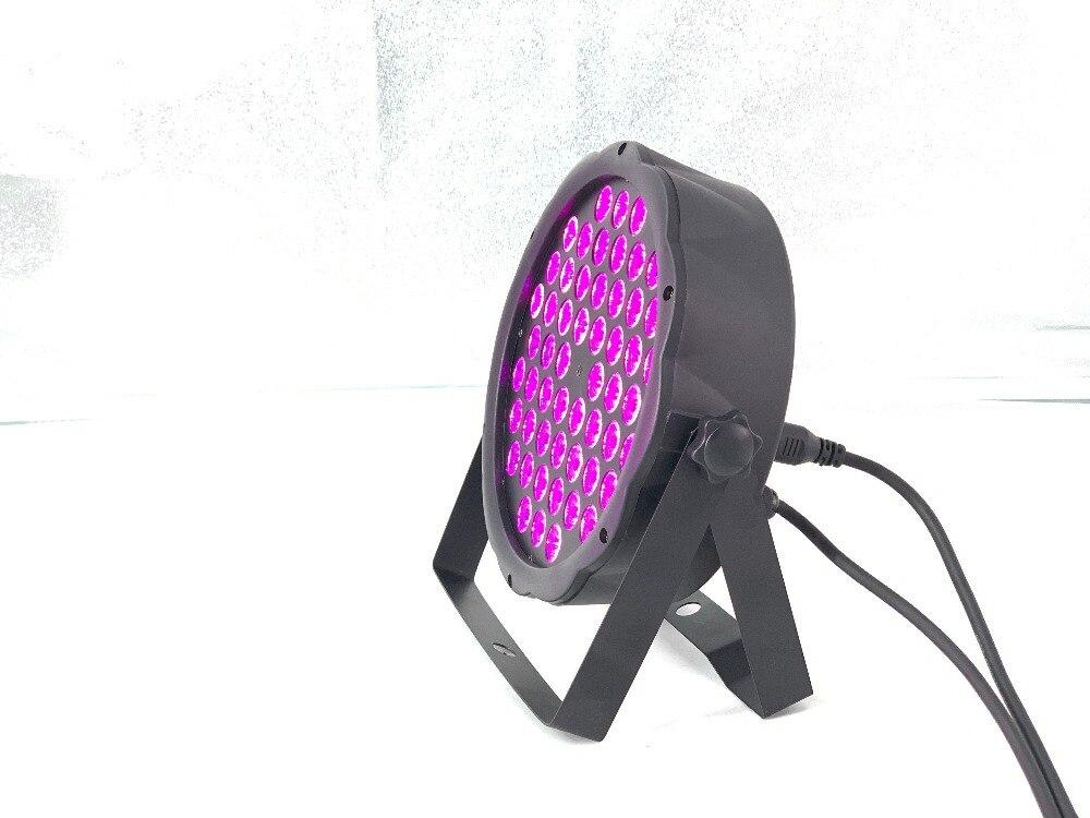 LED Flat Slim Par Lights Wash Disco 54x4W RGB 3in1 Led Par Light Uv Light  LED Luxury DMX Lights