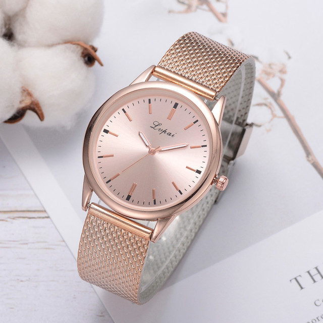 LVPAI Luxury Watch Women Dress Bracelet Watch Fashion Crystal Quartz Wristwatch