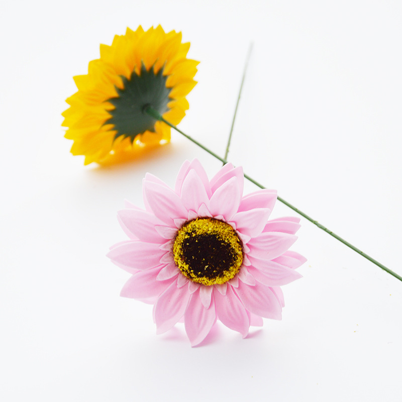 25 PCS Sunflower Soap Flower Head Bouquet Gift Box Decoration Collocation Flower Shop Supplies