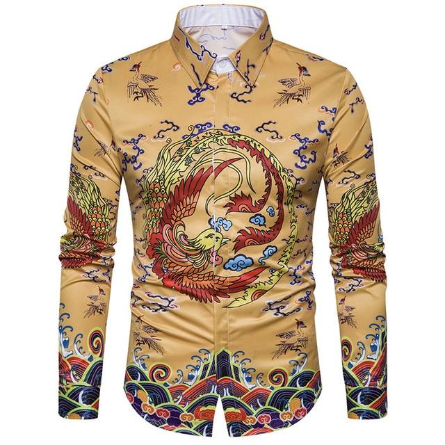 huge selection of 864f6 6f71e Hommes -3D-Impression-Chemise-2018-Printemps-Nouveau-Style-Chinois-robe-Imp-riale-Conception- Hommes-De-Mode.jpg 640x640.jpg