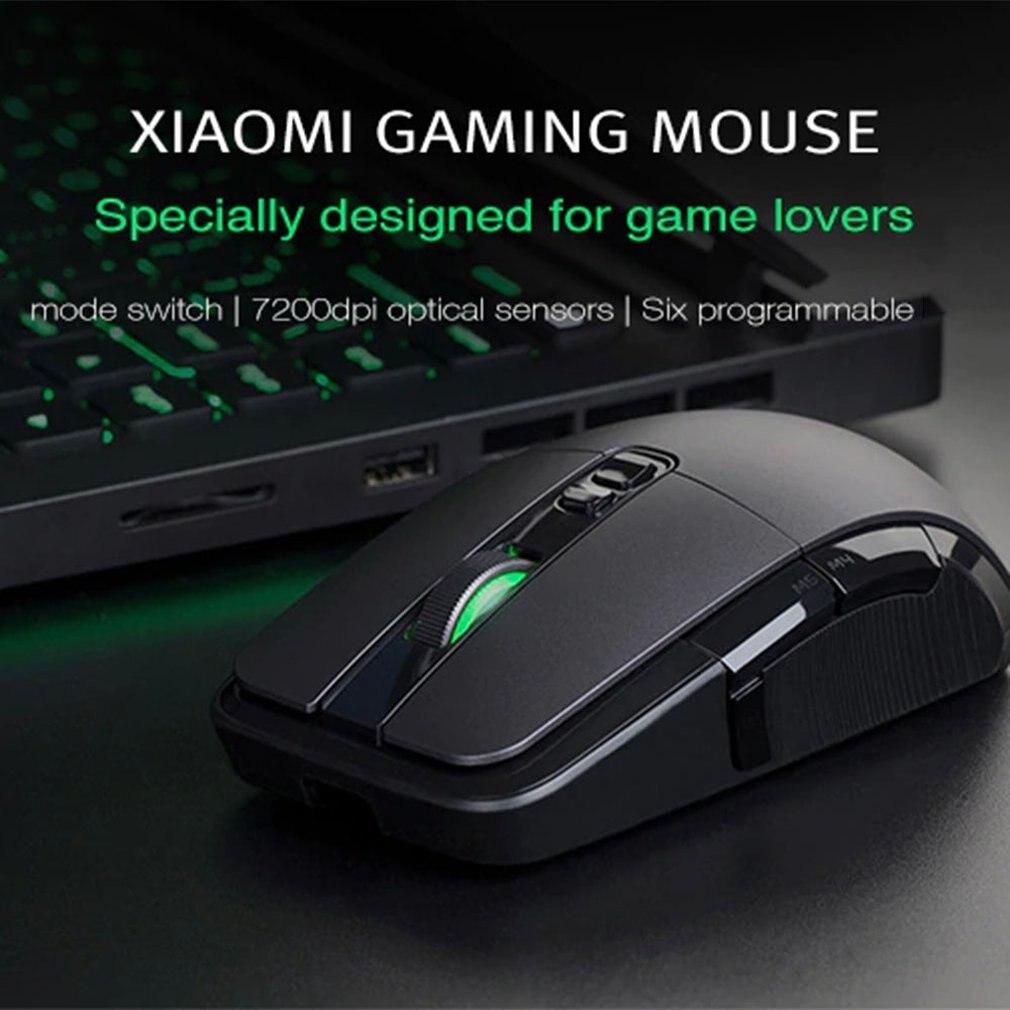 Xiaomi souris sans fil de jeu USB 2.4 GHz 7200 DPI RGB rétro-éclairage souris Gamer optique Rechargeable ordinateur