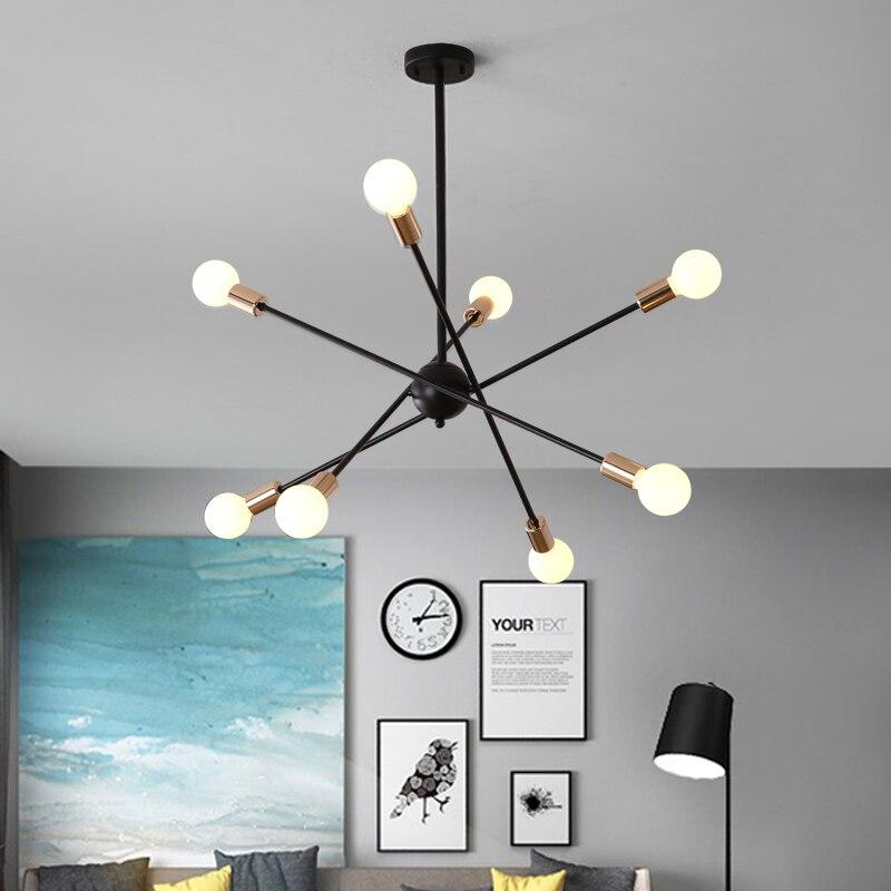 85 265V E27 Chander Lights Vintag LED Chandeliers Industrial Edison 6 8 Lights Chandelier Fixture White