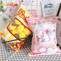 Japanese Cherry Rabbit Big Bag Cherry Blossom Pillow Small Rabbit Cake Pudding Doll Creative Chicken Children Plush Toys