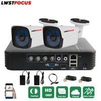 Full HD 4CH CCTV System 1080P AHD 1080N CCTV DVR 2PCS 3000TVL IR Waterproof Outdoor Security