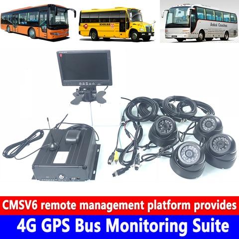 cartao sd de disco rigido monitoramento ahd polegada display digital hd 7 4g gps onibus