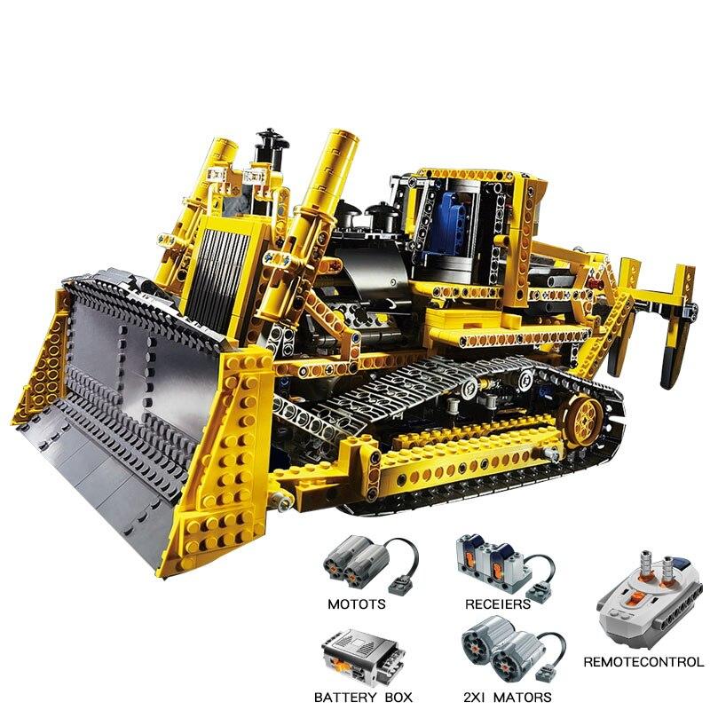 LEPIN 20008 À Distance Controrlled Motorisé Bulldozer Modèle Blocs de Construction Brique Technique Kits Jouets Pour Enfant