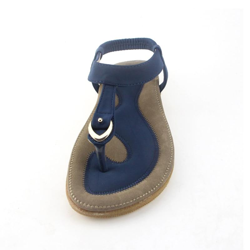 NAUSK Women Sandal Slippers Flat-Heel Single-Shoes Summer New 35-42 Casual Soft-Bottom