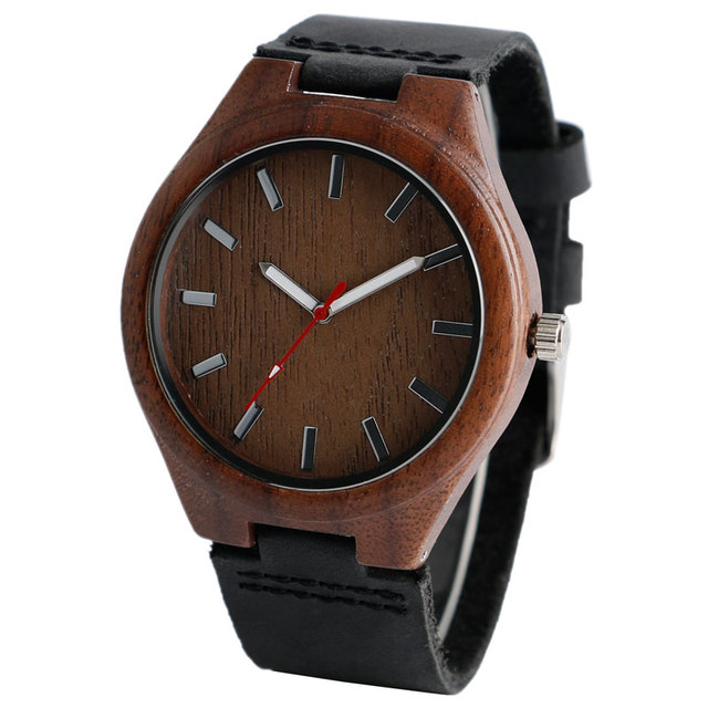 Cool bambou Natura bois montre cadran spécial hommes femmes montres mode en cuir véritable bande bracelet montre-bracelet