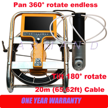 Home and Industrial Chimney Inspection Camera Systems 360 degree pan tilt cameras HD 7inch Monitor stove inspection
