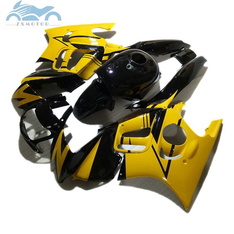Piezas de la motocicleta para HONDA CBR 600 F3 carenados 1997 1998 CBR600 F3 97 98 amarillo negro del mercado de accesorios de carrocería kit de carenado a1