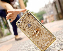 iPhone Gold Plating Case 3D Glitter Diamonds Phone Case