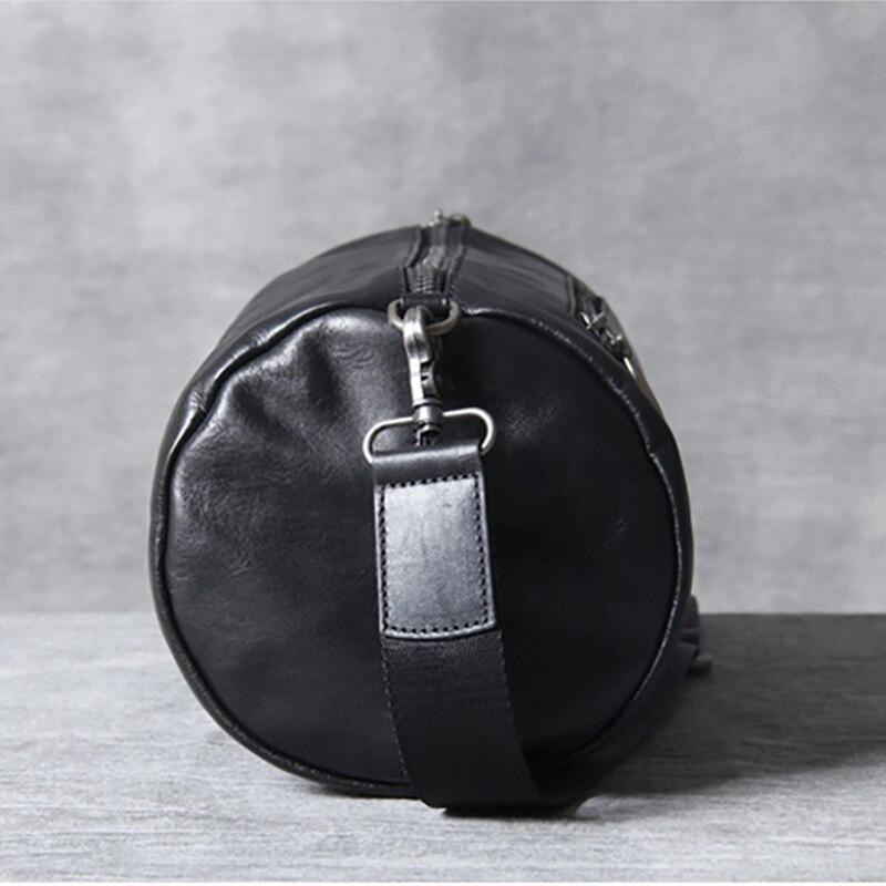 tasche Leder Rindsleder Kopf Black Bjyl Retro Einfache Barrel Crossbody Männlichen Casual Fashion Tasche Schulter FYFUqw7E