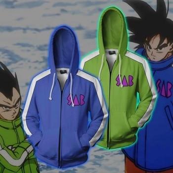 Cloudstyle Men Zip Up Hoodies Dragon Ball Super Jacket 3D Vegeta Kid Goku Printed Anime Hooded Cosplay Zip Up Sweatshirt Coats new men s dragon ball 3d printed hooded sweatshirt with kangaroo pocket hob aa03
