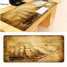 Yuzuoan 900X400X2MM Ship Map Customization Support keyboard Desk Gaming Mouse pad Large Black Lock Edge For CSGO As Boy Gife